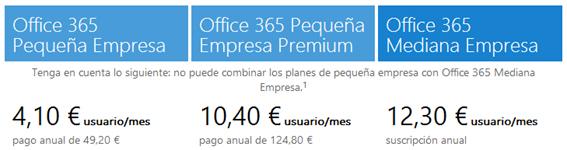 Planes Office 365