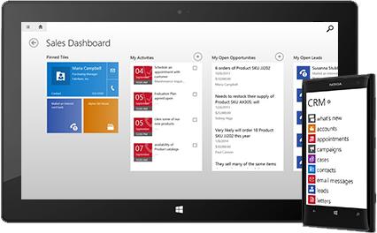Microsoft Dynamics CRM 2013 para dispositivos móviles