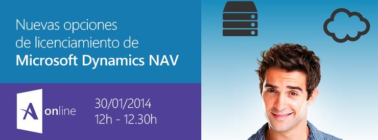 Seminario online nuevas opciones de licenciamiento de Microsoft Dynamics NAV Navision