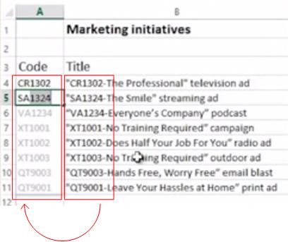 Llenado rápido en Excel