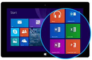 Office 2013 RT en Surface