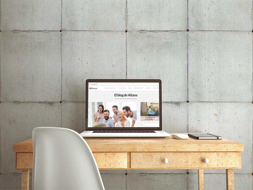 Aitana presenta nuevo diseño de blog