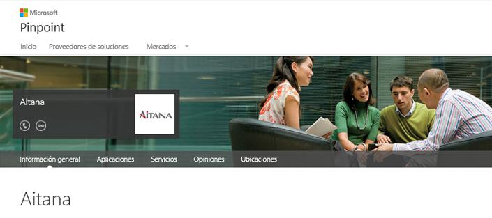 Aitana en Microsoft Pinpoint