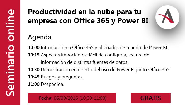Productividad en la nube para tu empresa con Office 365 y Power BI