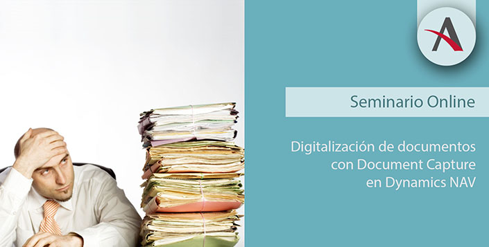 Document Capture, digitalización certificada de documentos para Dynamics NAV
