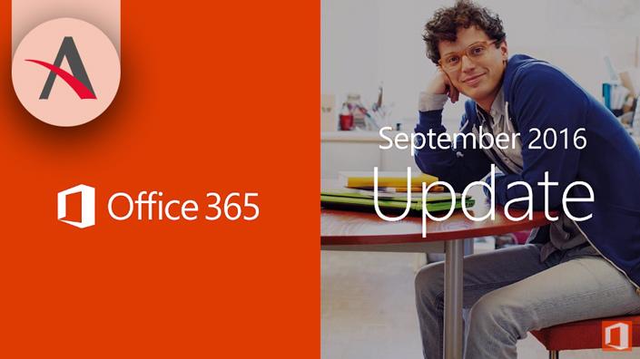 Actualizaciones Office 365 para septiembre 2016