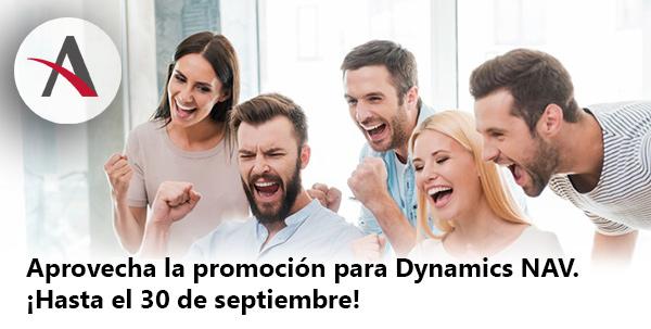 Aprovecha la promoción para Dynamics NAV. ¡Hasta el 30 de septiembre!