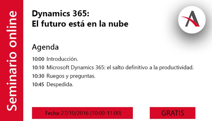 Webinar Dynamics 365: El futuro está en la nube