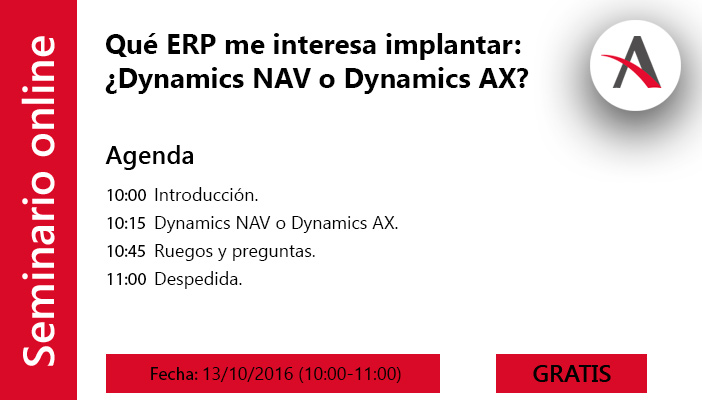 Qué ERP me interesa implantar: Dynamics NAV o Dynamics AX
