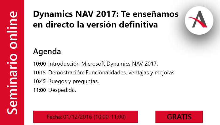 Dynamics NAV 2017: Te enseñamos en directo la versión definitiva