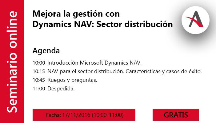 Mejora la gestión con Dynamics NAV para distribución