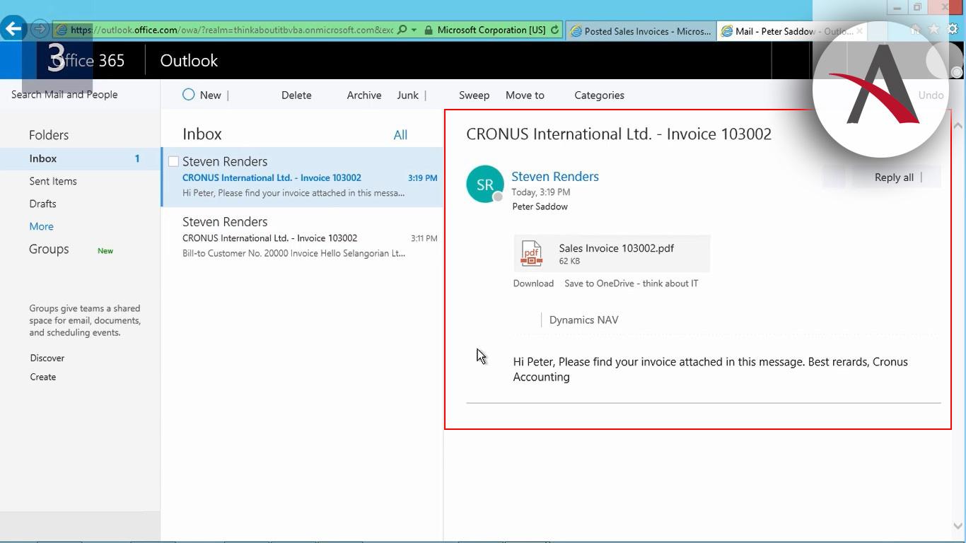 Cómo enviar correos electrónicos sin salir de NAV 2017
