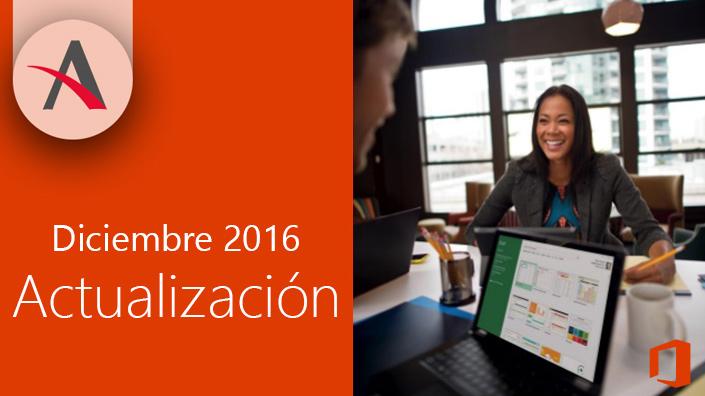 Llegan las últimas actualizaciones de Office 365 para diciembre