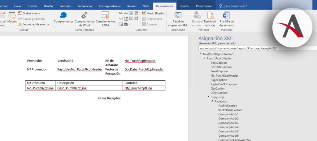 Diseños personalizados y Word Layouts en Dynamics NAV