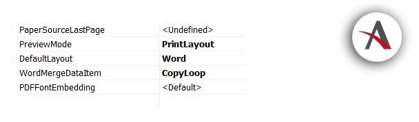 Cómo implementar bucle para número de copias en diseños de informes de Word para NAV