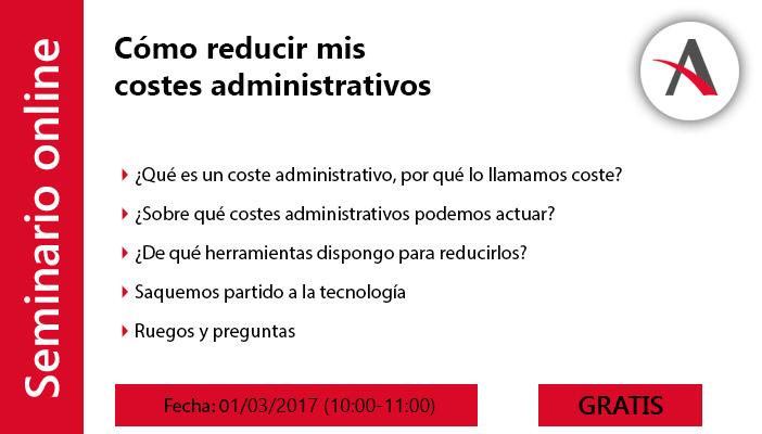 Cómo reducir mis costes administrativos