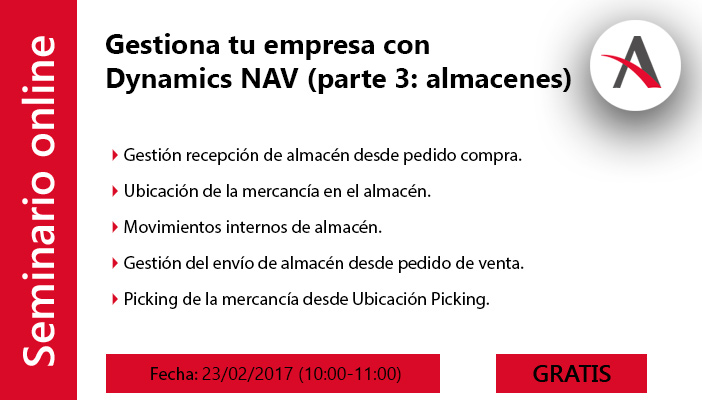 Gestiona los almacenes de tu empresa con Dynamics NAV