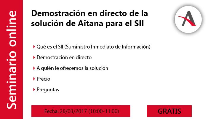 Demostración en directo de la solución de Aitana* para el SII