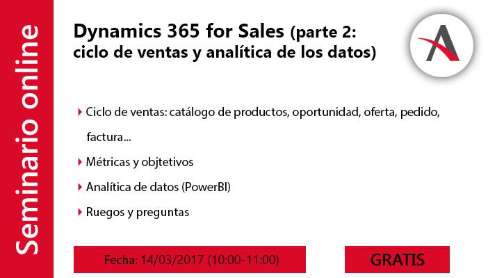 Dynamics 365 for Sales: visión global, ciclo de ventas y analítica de datos