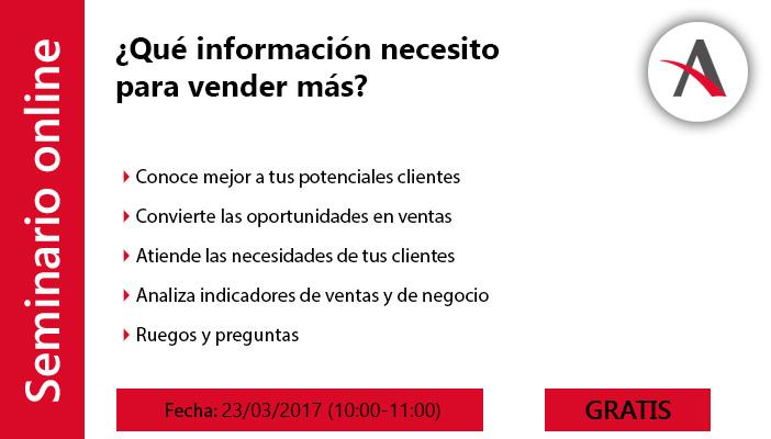 ¿Qué información necesito para vender más?
