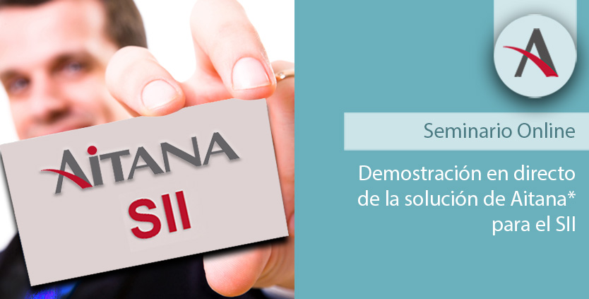 Demostración en directo de la solución de Aitana para el SII