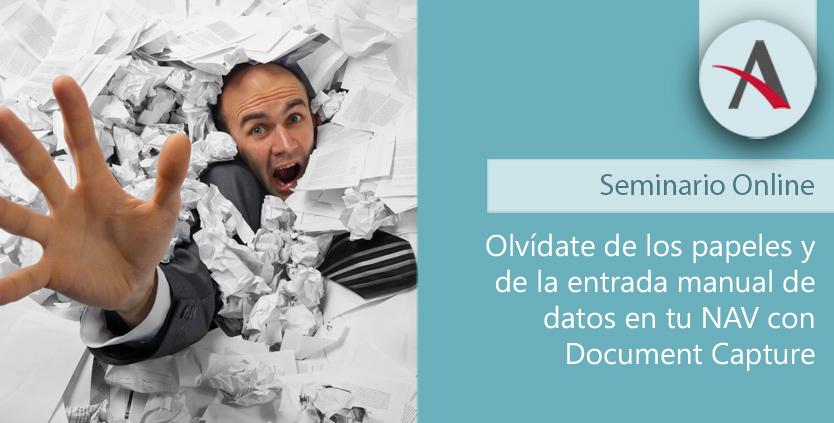 Olvídate de los papeles y de la entrada manual de datos en tu NAV con Document Capture