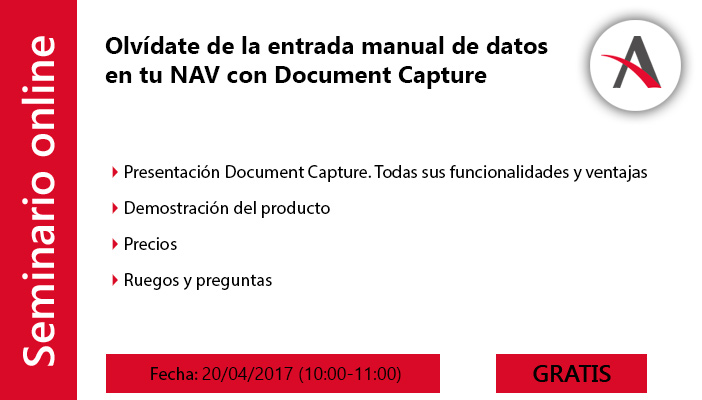 Olvídate de los papeles y de la entrada manual de datos en tu NAV con Document Capture