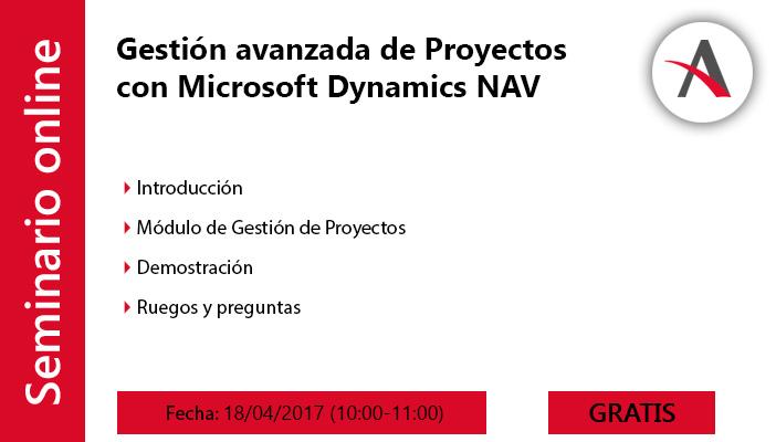 Gestión avanzada de Proyectos de Microsoft Dynamics NAV