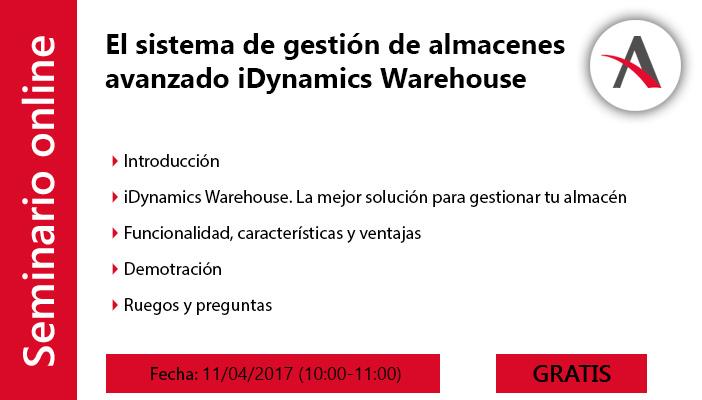 El sistema de gestión de almacenes avanzado que tu empresa necesita: iDynamics Warehouse