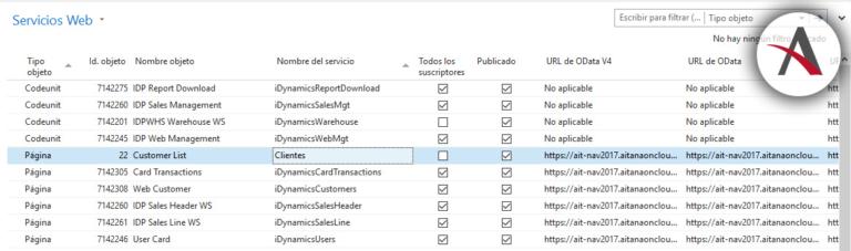 Configurar informes con NAV