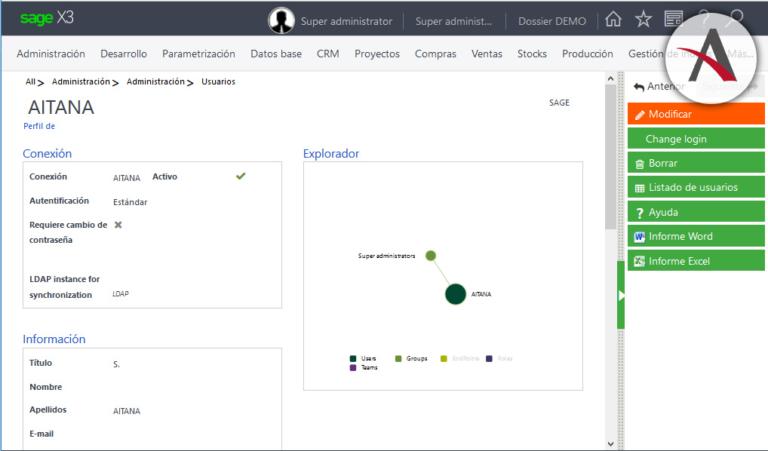 Sage X3, la última apuesta de Aitana en el mundo ERP