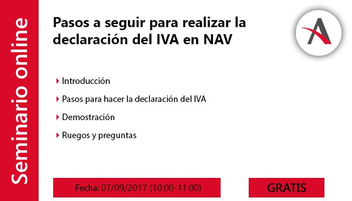 Pasos a seguir para realizar la declaración del IVA en Microsoft Dynamics NAV