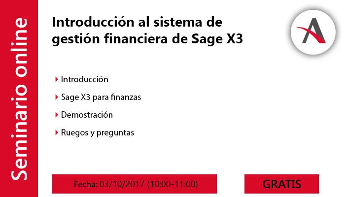 Introducción al sistema de gestión financiera de Sage X3