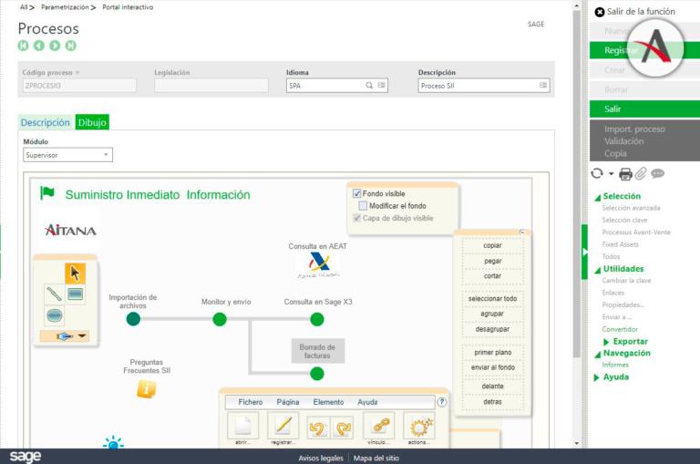 Cómo crear un proceso visual en Sage X3 paso a paso