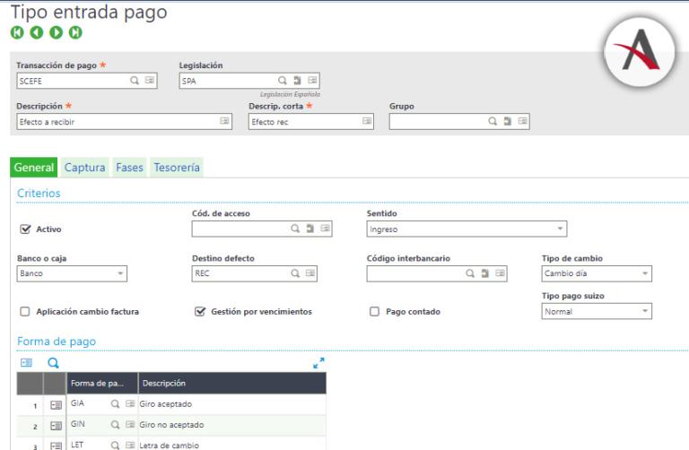 Gestión de cobros y pagos en Sage X3