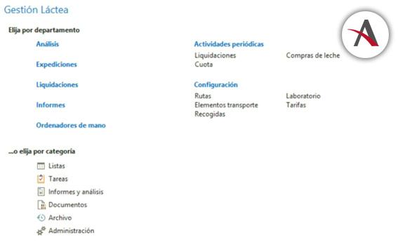 Módulo de Recogida de Leche en NAV (Navision)