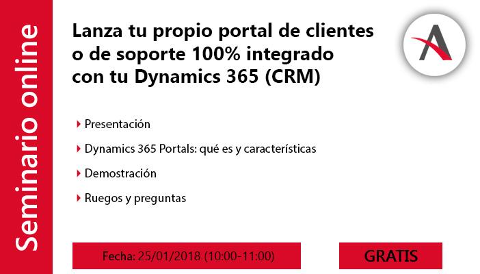 agenda webinar dynamics 365 Portals