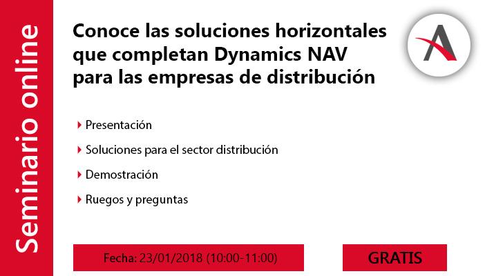 agenda webinar distribución en Dynamics NAV