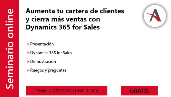 Aumenta tu cartera de clientes y cierra más ventas con Dynamics 365 for Sales