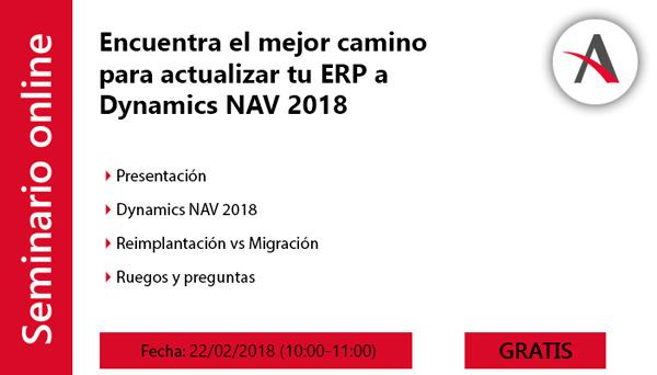 Encuentra el mejor camino para actualizar tu ERP a Dynamics NAV 2018