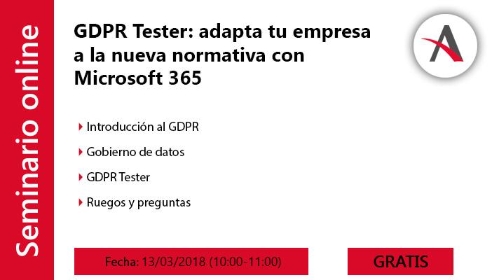 GDPR Tester: adapta tu empresa a la nueva normativa con Microsoft 365