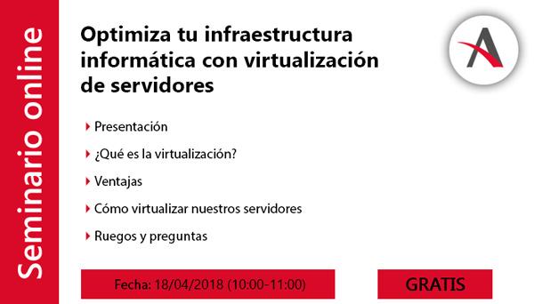 webinar virtualización agenda