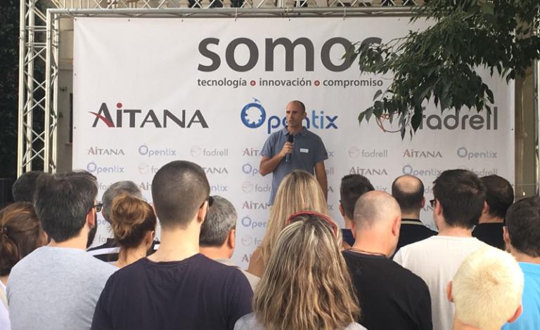 Aitana, Opentix y Fadrell celebran el #SomosDay, una jornada interna para los empleados