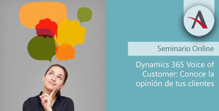 Conoce la opinión de tus clientes con Dynamics 365 Voice of Customer