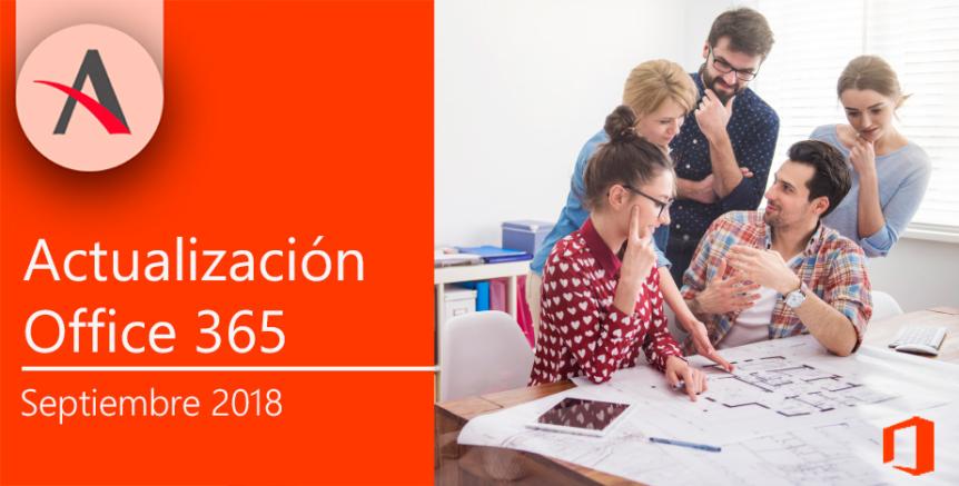Actualización septiembre Office 365