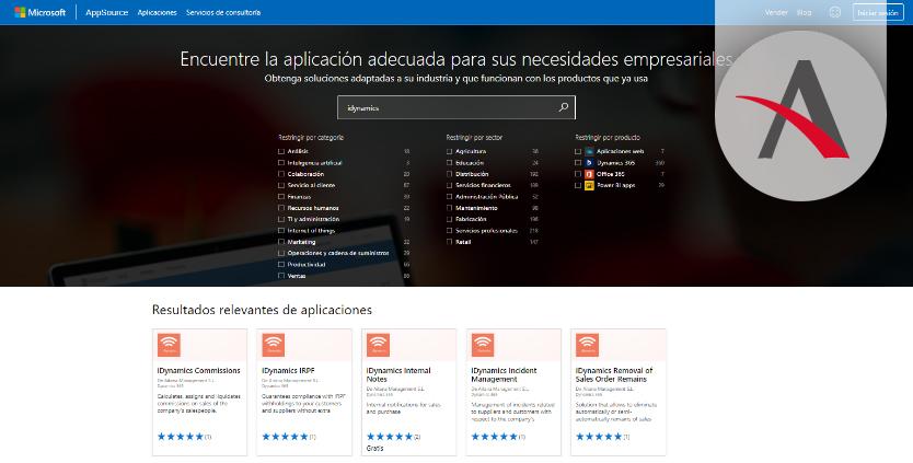 aplicaciones en la AppSource