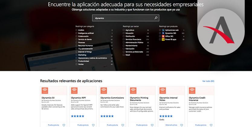 AppSource de Microsoft