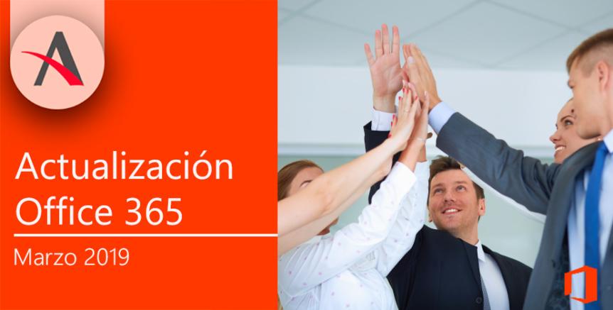 novedades en marzo para Office 365