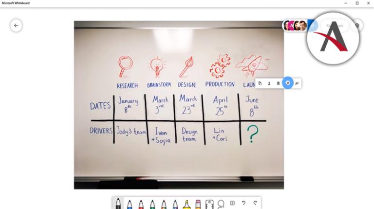 novedades en marzo para Office 365 y Microsoft Whiteboard