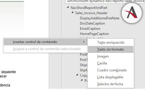 Creación de plantillas en Word con Dynamics NAV